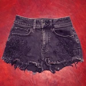 Black American Eagle Shorts